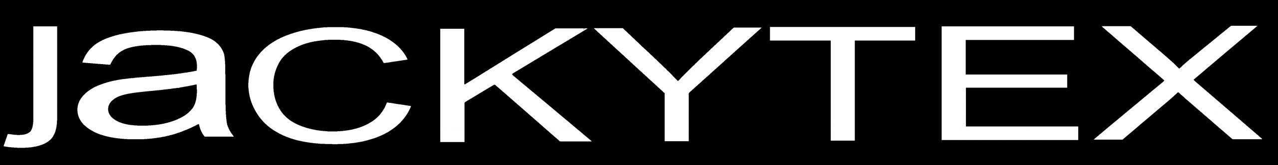 logo jackytex bianco